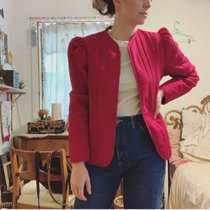 Vintage puff sleeve jacket
